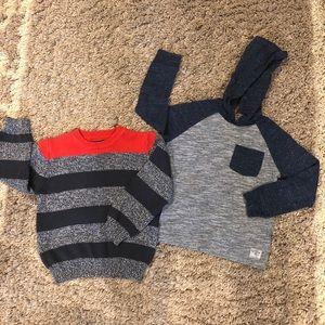 Osh Kosh Boys Size 4 Shirts. 1 Hoodie & 1 Sweater